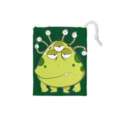 The Most Ugly Alien Ever Drawstring Pouches (small)  by Catifornia