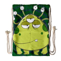 The Most Ugly Alien Ever Drawstring Bag (large) by Catifornia