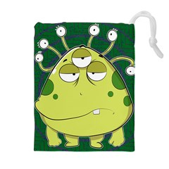 The Most Ugly Alien Ever Drawstring Pouches (extra Large) by Catifornia