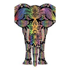 Prismatic Floral Pattern Elephant Shower Curtain 48  X 72  (small)  by Nexatart