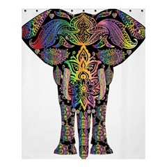 Prismatic Floral Pattern Elephant Shower Curtain 60  X 72  (medium)  by Nexatart
