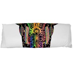 Prismatic Floral Pattern Elephant Body Pillow Case Dakimakura (two Sides) by Nexatart