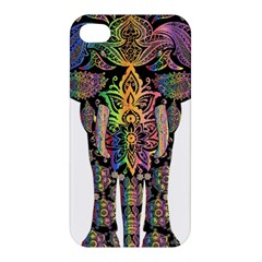 Prismatic Floral Pattern Elephant Apple Iphone 4/4s Premium Hardshell Case by Nexatart