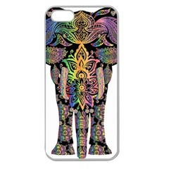 Prismatic Floral Pattern Elephant Apple Seamless Iphone 5 Case (clear) by Nexatart