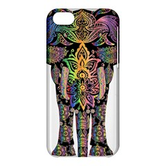 Prismatic Floral Pattern Elephant Apple Iphone 5c Hardshell Case