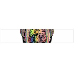 Prismatic Floral Pattern Elephant Flano Scarf (large) by Nexatart