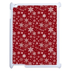 Merry Christmas Pattern Apple Ipad 2 Case (white) by Nexatart