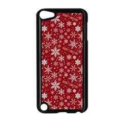 Merry Christmas Pattern Apple Ipod Touch 5 Case (black) by Nexatart