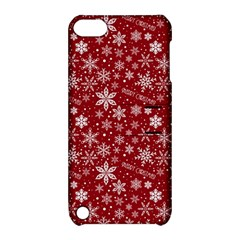 Merry Christmas Pattern Apple Ipod Touch 5 Hardshell Case With Stand by Nexatart
