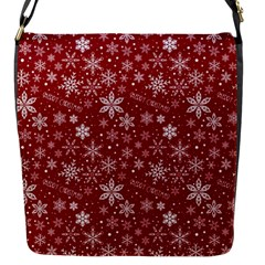Merry Christmas Pattern Flap Messenger Bag (s) by Nexatart