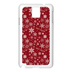 Merry Christmas Pattern Samsung Galaxy Note 3 N9005 Case (white) by Nexatart
