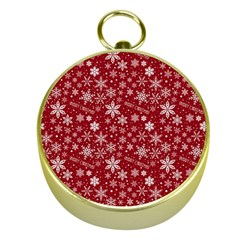 Merry Christmas Pattern Gold Compasses by Nexatart