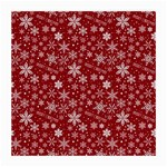 Merry Christmas Pattern Medium Glasses Cloth (2-Side) Back