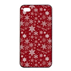 Merry Christmas Pattern Apple Iphone 4/4s Seamless Case (black) by Nexatart
