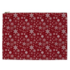 Merry Christmas Pattern Cosmetic Bag (xxl)  by Nexatart