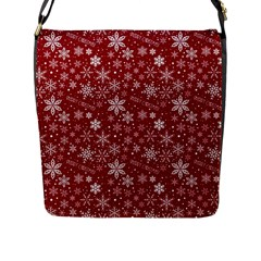 Merry Christmas Pattern Flap Messenger Bag (l)  by Nexatart