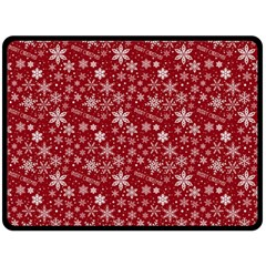 Merry Christmas Pattern Double Sided Fleece Blanket (large)