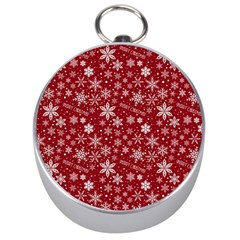 Merry Christmas Pattern Silver Compasses