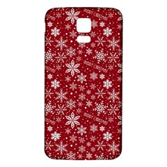 Merry Christmas Pattern Samsung Galaxy S5 Back Case (white) by Nexatart