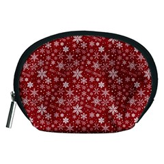 Merry Christmas Pattern Accessory Pouches (medium)  by Nexatart