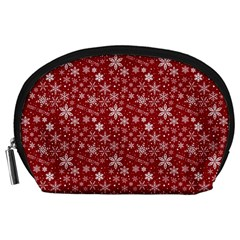 Merry Christmas Pattern Accessory Pouches (large)