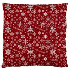 Merry Christmas Pattern Standard Flano Cushion Case (one Side)