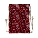 Merry Christmas Pattern Drawstring Bag (Small) Front