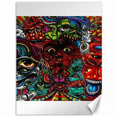 Abstract Psychedelic Face Nightmare Eyes Font Horror Fantasy Artwork Canvas 36  X 48   by Nexatart