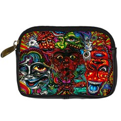 Abstract Psychedelic Face Nightmare Eyes Font Horror Fantasy Artwork Digital Camera Cases by Nexatart