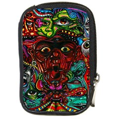 Abstract Psychedelic Face Nightmare Eyes Font Horror Fantasy Artwork Compact Camera Cases by Nexatart
