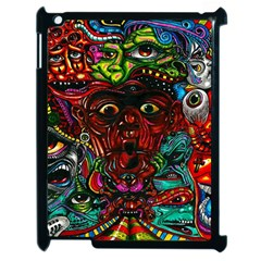 Abstract Psychedelic Face Nightmare Eyes Font Horror Fantasy Artwork Apple Ipad 2 Case (black)