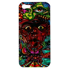 Abstract Psychedelic Face Nightmare Eyes Font Horror Fantasy Artwork Apple Iphone 5 Hardshell Case by Nexatart