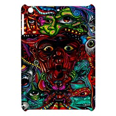 Abstract Psychedelic Face Nightmare Eyes Font Horror Fantasy Artwork Apple Ipad Mini Hardshell Case by Nexatart