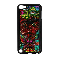 Abstract Psychedelic Face Nightmare Eyes Font Horror Fantasy Artwork Apple Ipod Touch 5 Case (black)