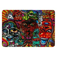 Abstract Psychedelic Face Nightmare Eyes Font Horror Fantasy Artwork Samsung Galaxy Tab 8 9  P7300 Flip Case by Nexatart