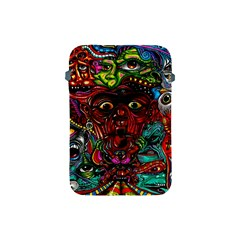 Abstract Psychedelic Face Nightmare Eyes Font Horror Fantasy Artwork Apple Ipad Mini Protective Soft Cases by Nexatart
