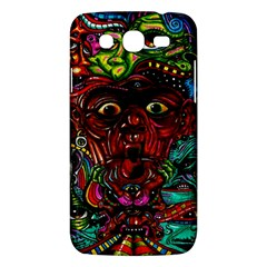 Abstract Psychedelic Face Nightmare Eyes Font Horror Fantasy Artwork Samsung Galaxy Mega 5 8 I9152 Hardshell Case  by Nexatart
