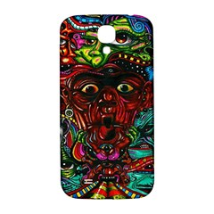Abstract Psychedelic Face Nightmare Eyes Font Horror Fantasy Artwork Samsung Galaxy S4 I9500/i9505  Hardshell Back Case by Nexatart