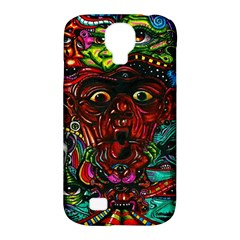 Abstract Psychedelic Face Nightmare Eyes Font Horror Fantasy Artwork Samsung Galaxy S4 Classic Hardshell Case (pc+silicone) by Nexatart