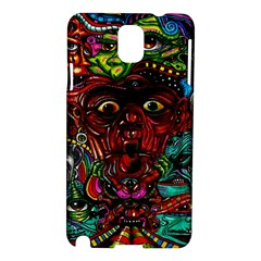 Abstract Psychedelic Face Nightmare Eyes Font Horror Fantasy Artwork Samsung Galaxy Note 3 N9005 Hardshell Case by Nexatart