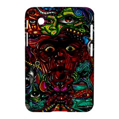 Abstract Psychedelic Face Nightmare Eyes Font Horror Fantasy Artwork Samsung Galaxy Tab 2 (7 ) P3100 Hardshell Case  by Nexatart