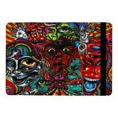 Abstract Psychedelic Face Nightmare Eyes Font Horror Fantasy Artwork Samsung Galaxy Tab Pro 10 1  Flip Case by Nexatart