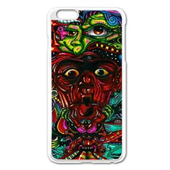Abstract Psychedelic Face Nightmare Eyes Font Horror Fantasy Artwork Apple Iphone 6 Plus/6s Plus Enamel White Case by Nexatart