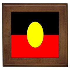 Flag Of Australian Aborigines Framed Tiles by Nexatart