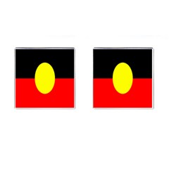 Flag Of Australian Aborigines Cufflinks (square) by Nexatart