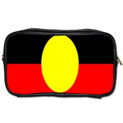 Flag Of Australian Aborigines Toiletries Bags by Nexatart
