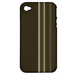 Lines Apple Iphone 4/4s Hardshell Case (pc+silicone) by ValentinaDesign