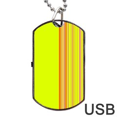 Lines Dog Tag Usb Flash (one Side) by ValentinaDesign