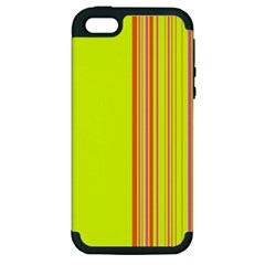 Lines Apple Iphone 5 Hardshell Case (pc+silicone) by ValentinaDesign