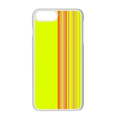 Lines Apple Iphone 7 Plus White Seamless Case by ValentinaDesign